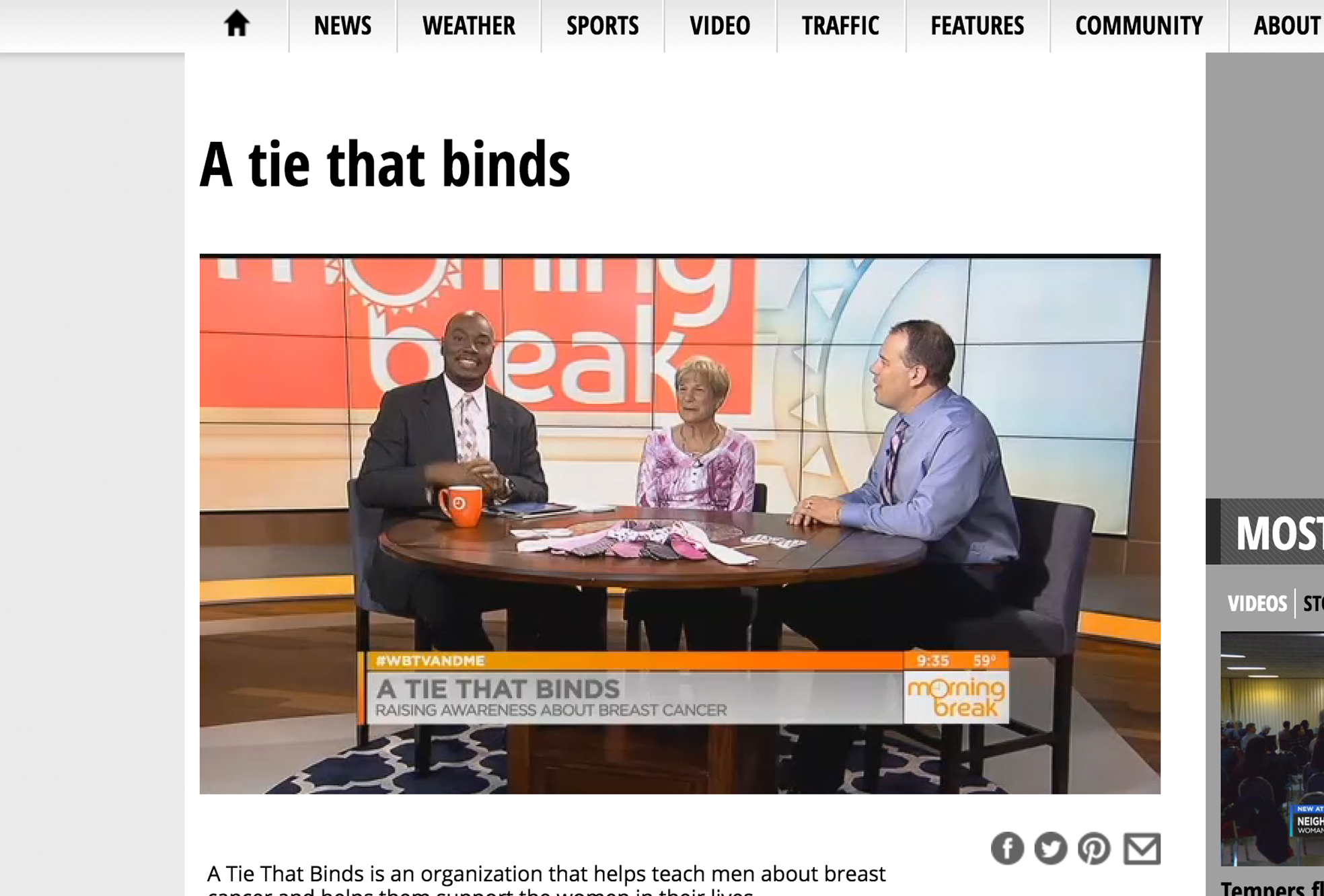 A Tie That Binds – WBTV